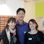 Houzz Chef Produktentwickler und zwei Mitarbeiterinnen von houzz Italy.
