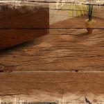 Holzfoto mit augekratzem Rand