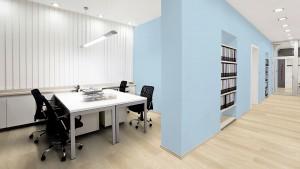 Büro mit hellem Boden