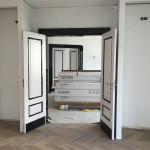 Rautenparkett verlegt in einem Berliner Stadthaus