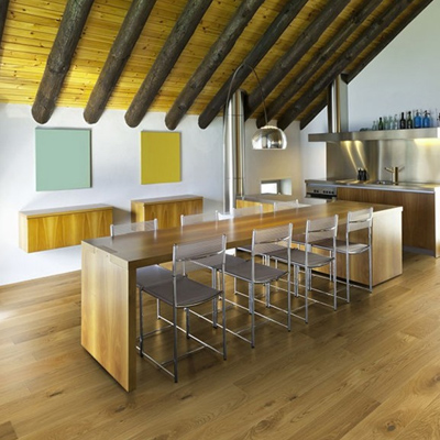 Landhausdielen aus Eiche in der Küche