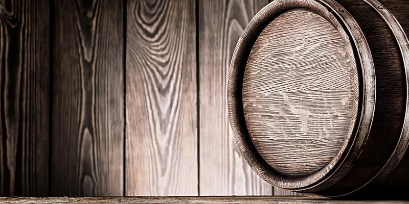 Eichenparkett und Whisky Eichenholzfass