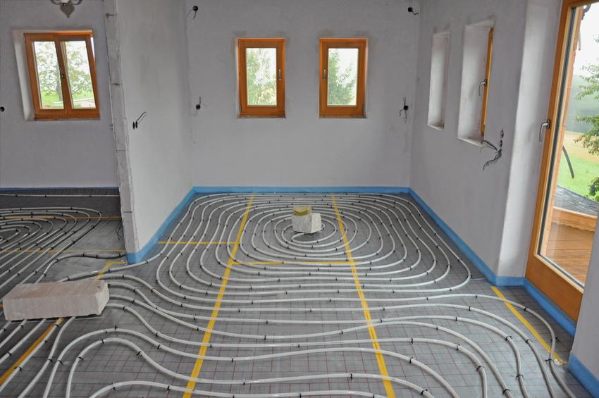Die Verlegung einer Fußbodenheizung