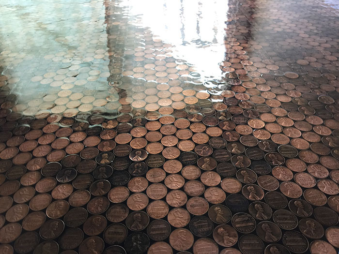 Fußboden Cent ~ Der do it yourself boden aus 13.000 pennies parkett direkt magazin