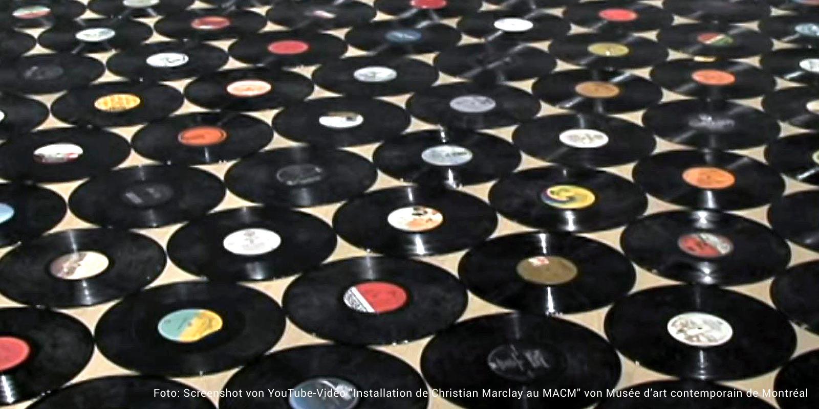 Vinylboden aus Schallplatten